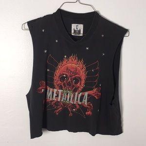 LF vintage Metallica crop top muscle tee